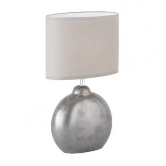 настолна лампа lino, ceramic grey/metallic, 1xE14, fischer&honsel, 50243