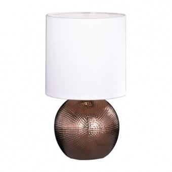 настолна лампа foro, ceramic copper coloured, 1xE27, fischer&honsel, 51261