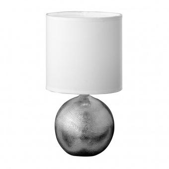 настолна лампа foro, ceramic chrome coloured, 1xE14, fischer&honsel, 51231