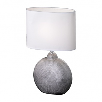 настолна лампа foro, ceramic chrome coloured, 1xE14, fischer&honsel, 51241