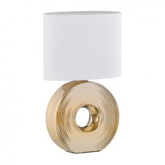 настолна лампа eye, ceramic gold coloured, 1xE14, fischer&honsel, 56197