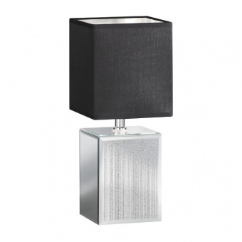 настолна лампа bert, ceramic silver coloured, 1xE14, fischer&honsel, 50256