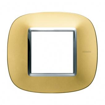 метална рамка, gold mat, bticino, axolute, hb4802osn