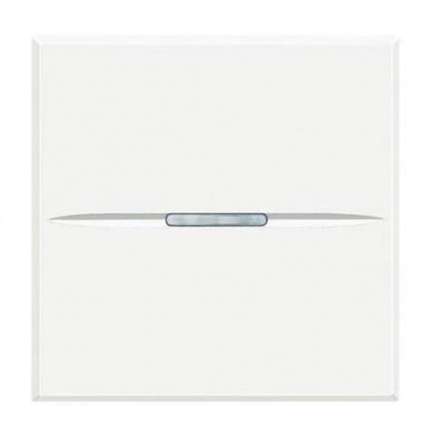 ключ бутон обикновен сх.1, white, bticino, axolute, hd4001m2