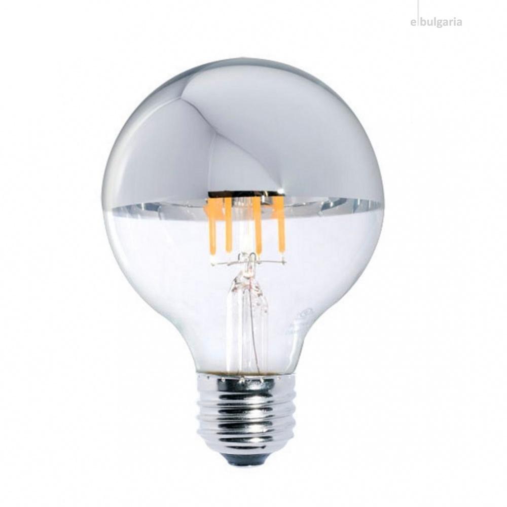 led лампа 7w chrome, e27, топла светлина, optonica, 2700k, 800lm, 1888