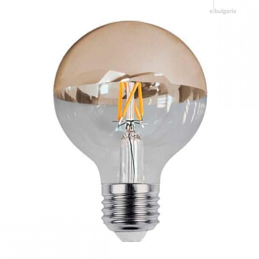 led лампа 4w gold, e27, топла светлина, optonica, 2700k, 400lm, 1889