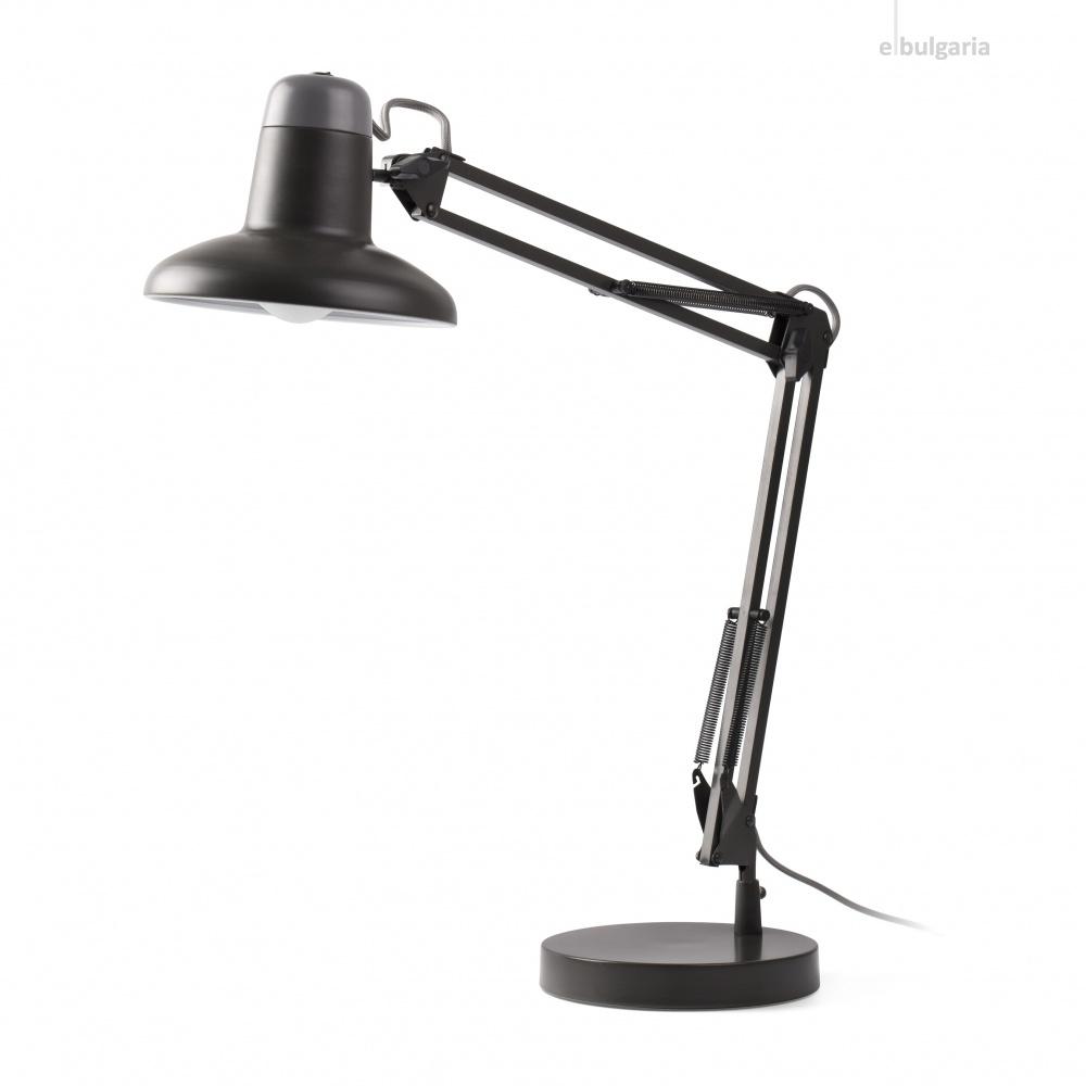 работна лампа snap, dark grey, 1xE27, faro, 57401
