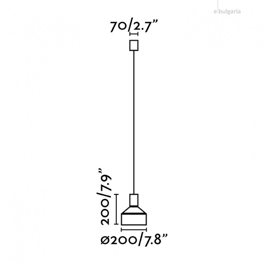пендел kombo, grey+black, 1xE27, faro, 68593
