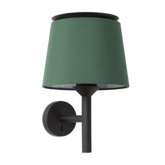 аплик savoy, black+green, 1xE27, faro, 20301+20312