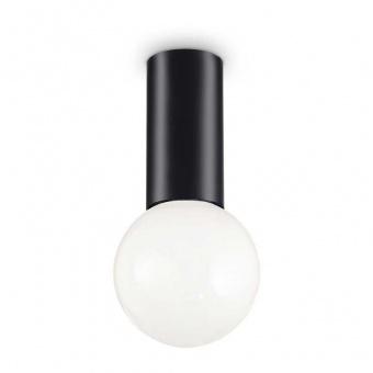 плафон petit pl 1, black, 1x8w, 3000k, 720lm, ideal lux, 232980