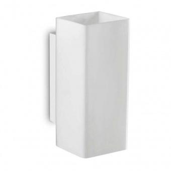 аплик paul ap2 square, white, 2x3,2w, 3000k, 2x300lm, ideal lux, 231129