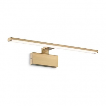 аплик alma, antique brass, led 12w, 3000k, 820lm, ideal lux, 224954
