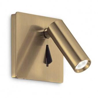 аплик lite, brass, led 3w, 3000k, 130lm, ideal lux, 250120