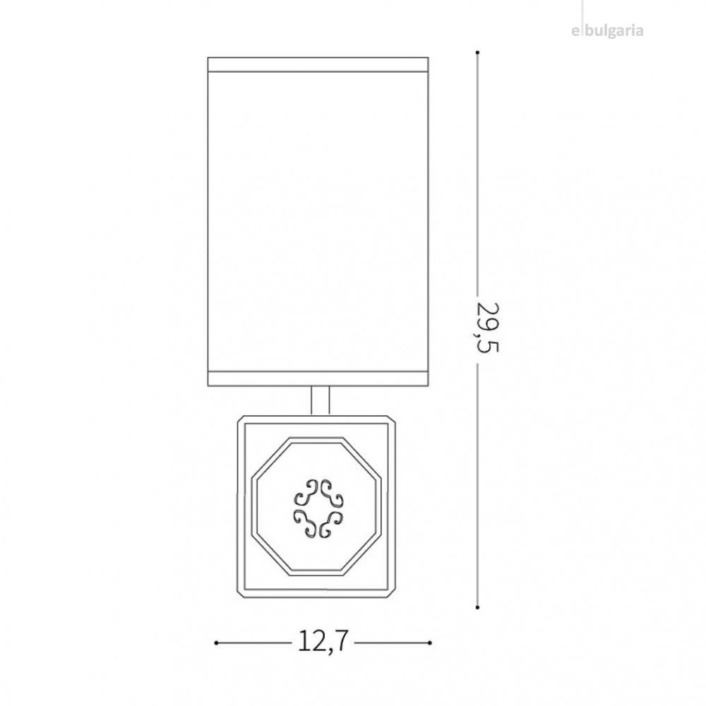настолна лампа kali-1, white, 1xE14, ideal lux, 245348