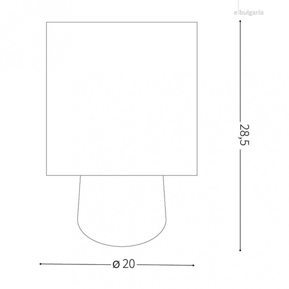 настолна лампа kali-2, cream, 1xE14, ideal lux, 245331