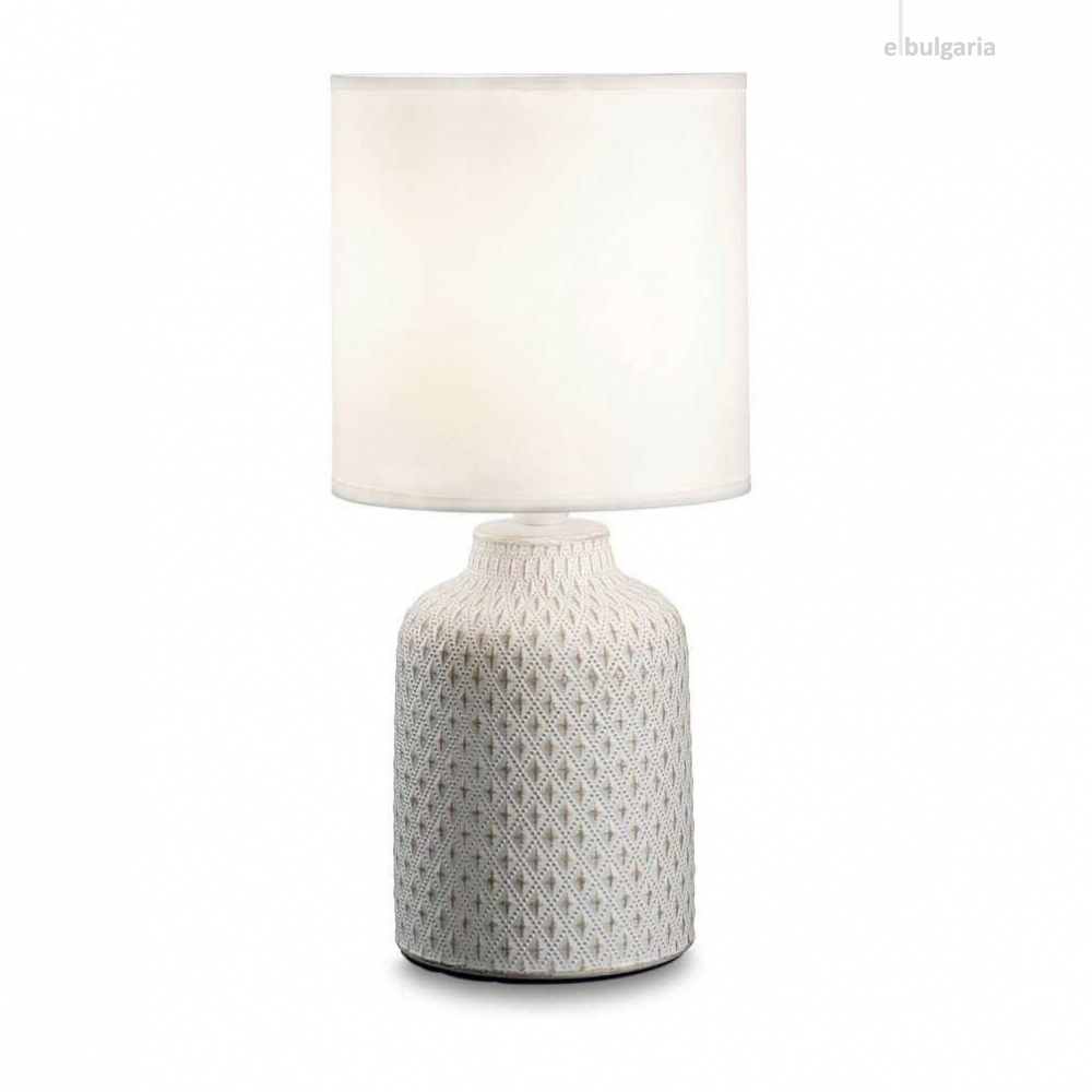 настолна лампа kali-3, white, 1xE14, ideal lux, 245393