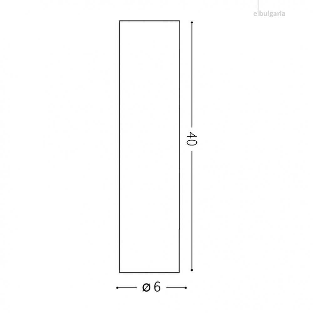 луна look pl1 h40, white, 1x7w, 3000k, 560lm, ideal lux, 233215
