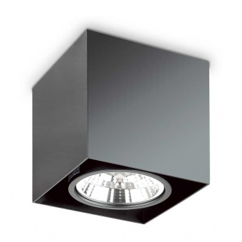 луна mood pl1 big square, black,1x50w,  3000k, 950lm, ideal lux, 243931