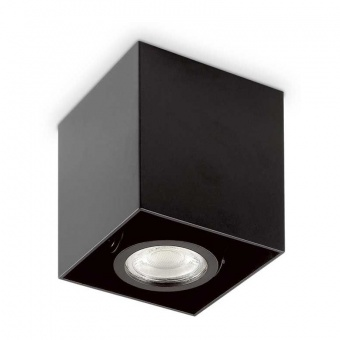 луна mood pl1 small square, black, 1x28w, 3000k, 640lm, ideal lux, 243948