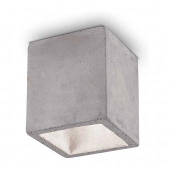 луна kool, concrete, 1x7w, 3000k, 560lm, ideal lux, 229874