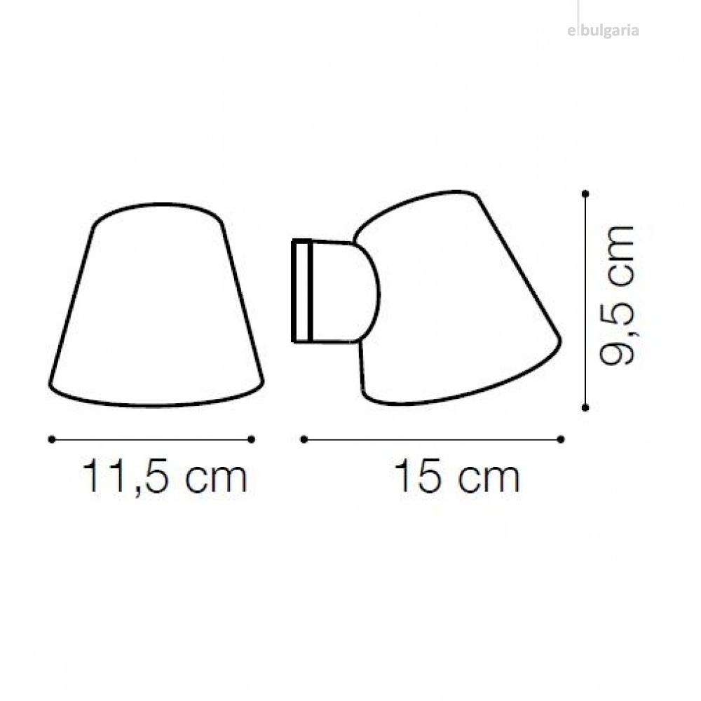 градински аплик gas ap1, coffee, 1xGU10, ideal lux, 213095