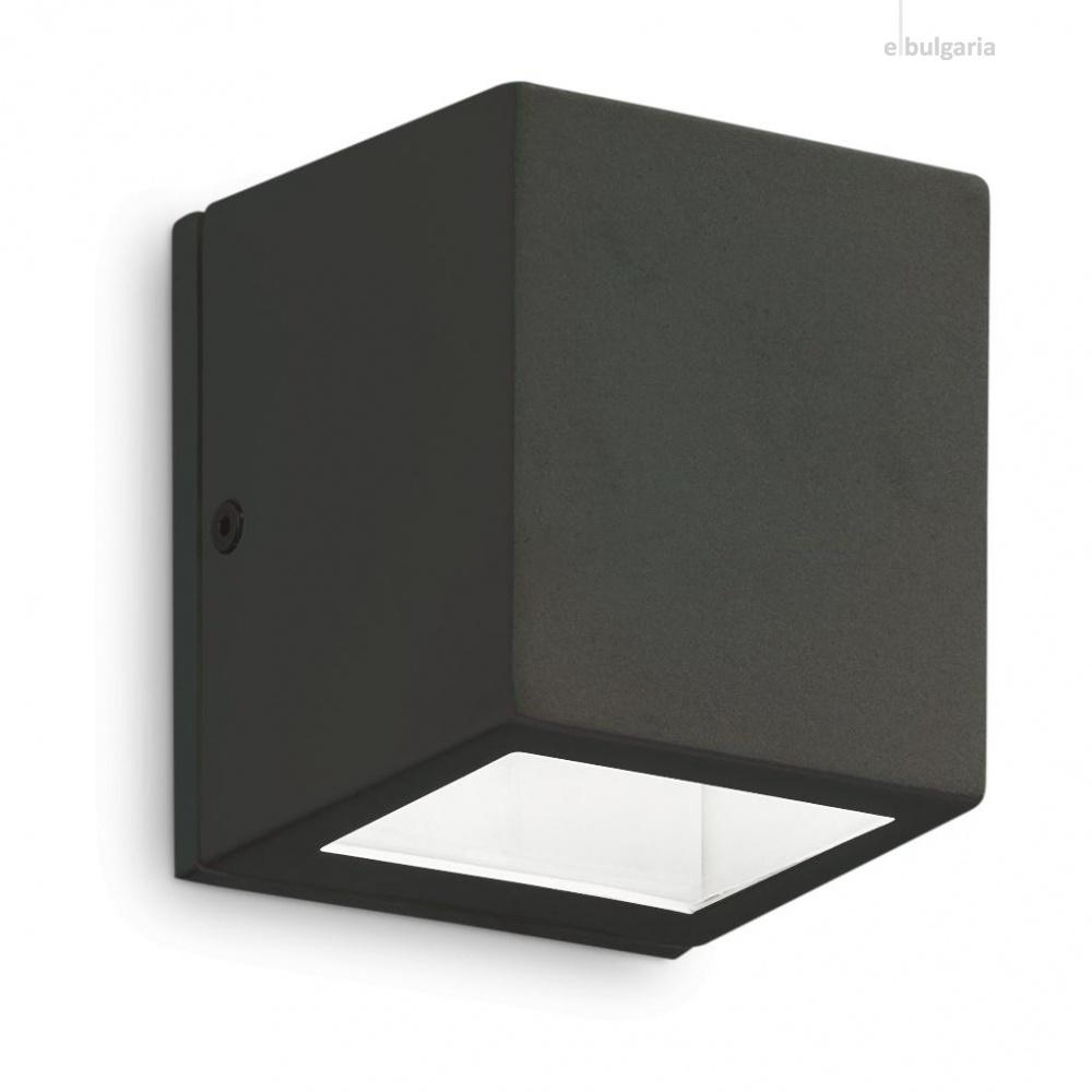 градински аплик twin ap1 small, black, 1x3.2w, 3000k, 300lm, ideal lux, 229546