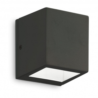 градински аплик twin ap1 small, black, 1x3.2w, 3000k, 300lm, ideal lux, 229546