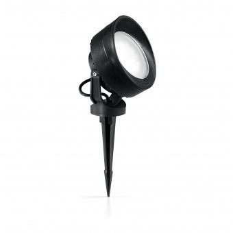 градински спот tommy pt, black, 1x7w, 3000k, ideal lux, 247175