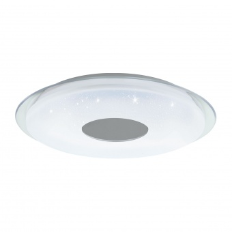 плафон lanciano-c, white/tranaparent/ with crystal effect, led 38w, 5000lm, rgb+tw, eglo, 98768