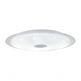 плафон moratica-a, white/transparent/crystal effect/silver, led 36w, 3300lm, eglo, 98219