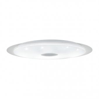 плафон moratica-a, white/transparent/crystal effect/silver, led 60w, 5900lm, eglo, 98223