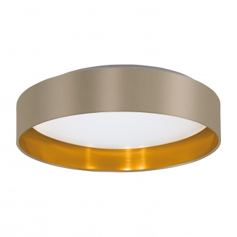 плафон maserlo2, toupe/gold/white, led 24w, warm white, 2050lm, eglo, 99541