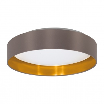 плафон maserlo2, cappuccino/gold/white, led 24w, warm white, 2050lm, eglo, 99542