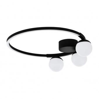 плафон phianeros, black/white, led 22w, warm white, 2800lm, eglo, 99375