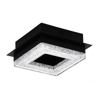 плафон fradelo1, black/crystal,black,clear, led 4w, warm white, 400lm, eglo, 99324