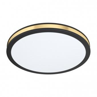 плафон pescaito, black/white/gold, led 12w, warm white, 1350lm, eglo, 99406