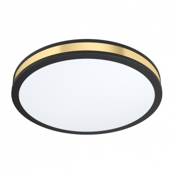 плафон pescaito, black/white/gold, led 24w, warm white, 2500lm, eglo, 99407