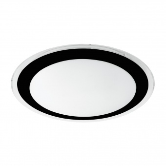 плафон competa2, white/black/clear, led 18w, warm white, 2000lm, eglo, 99404