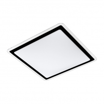 плафон competa2, white/black/clear, led 24w, warm white, 2600lm, eglo, 99405