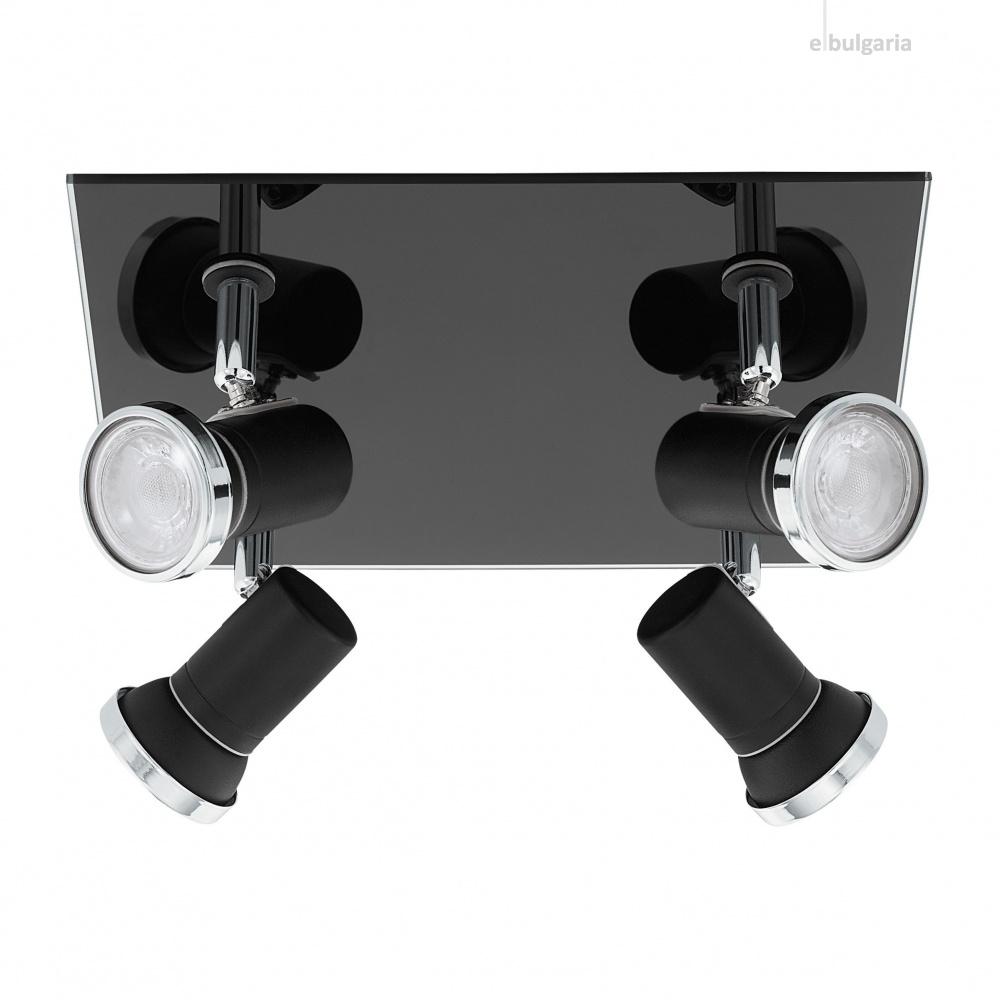 спот tamara 1, black, 4x3.3w, warm white, 4x240lm, eglo, 33678