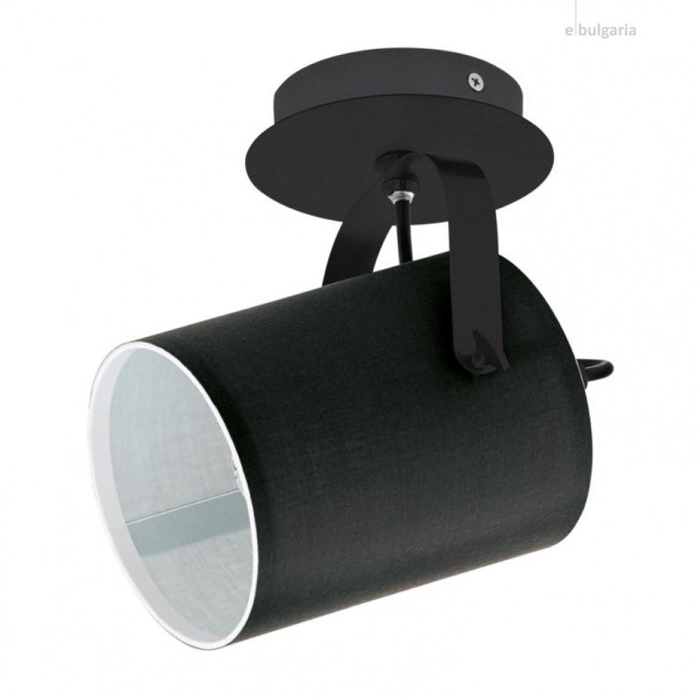 спот villabate, black, 1xE27, eglo, 33645