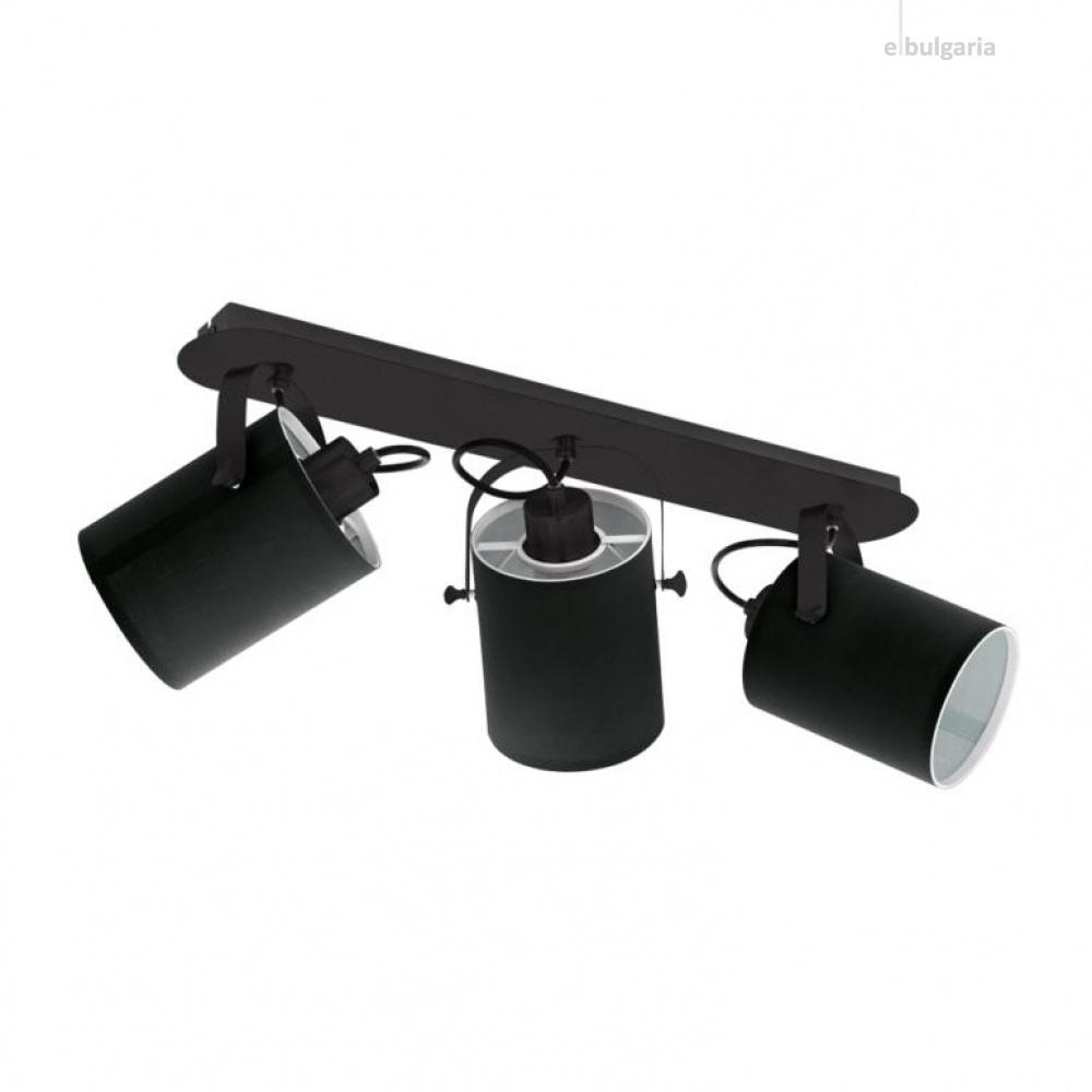 спот villabate, black, 3xE27, eglo, 33647