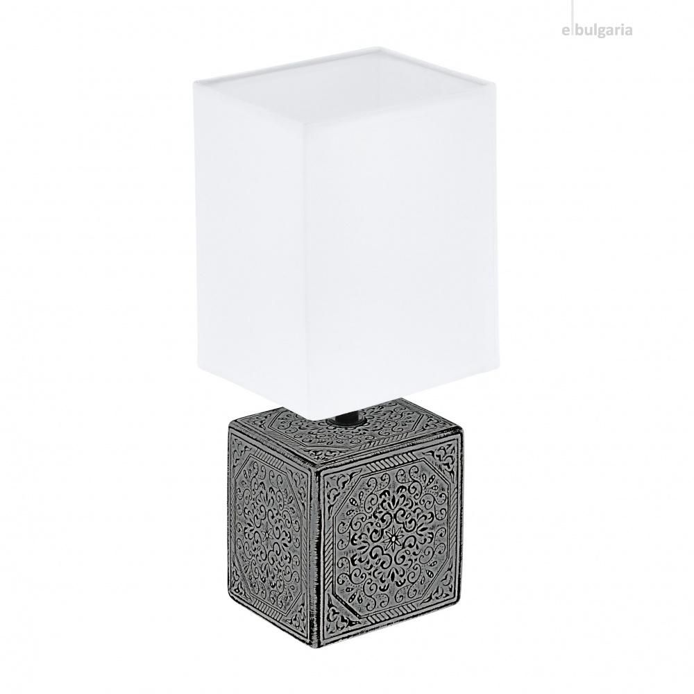 настолна лампа mataro1, black/white, 1xE14, eglo, 99333