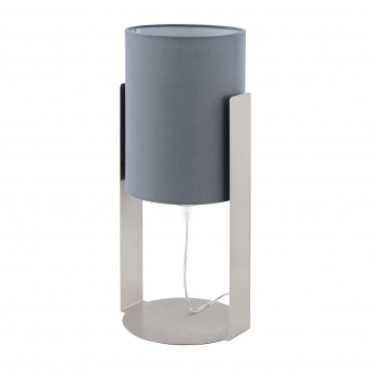 настолна лампа siponto, satin nickel/grey, 1xE27, eglo, 98286