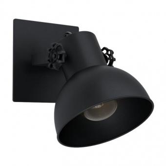спот barnstaple1, black, 1xE27, eglo, 43431
