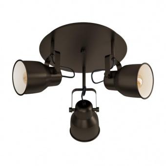 спот mitchley, dark bronze/cream, 3xE27, eglo, 43388