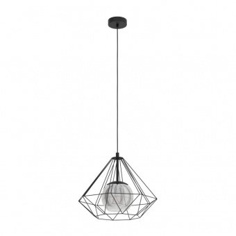 пендел vernham, black/black-transparent, 1xE27, eglo, 43481