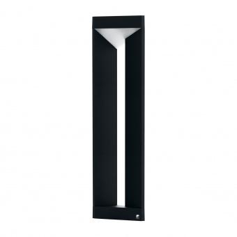градински стълб nembro, black/white, led 10w, warm white, 900lm, eglo, 98751