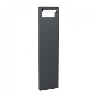 градински стълб brianza, black, led 4.8w, warm white, 450lm, eglo, 98708
