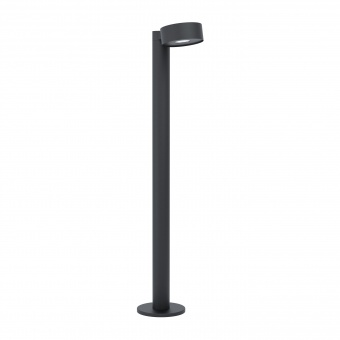 градински стълб palosco, black, led 6w, warm white, eglo, 98739